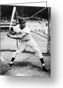 Player Greeting Cards - Willie Mays (1931- ) Greeting Card by Granger