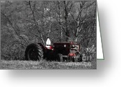 Plowing Greeting Cards - Willing To Work Greeting Card by Chad Thompson