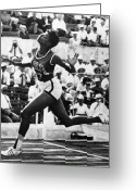 Shorts Greeting Cards - Wilma Rudolph (1940-1994) Greeting Card by Granger