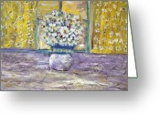 Designers Choice Painting Greeting Cards - Window Pane Greeting Card by Don  Wright