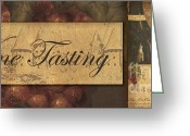 Vino Greeting Cards - Wine Tasting Collage  Greeting Card by Grace Pullen