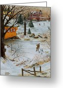 Size Greeting Cards - Winter Memories 3 of 4 Greeting Card by Doug Kreuger