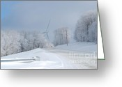 Virginia Winter Greeting Cards - Winter on Backbone Greeting Card by Randy Bodkins