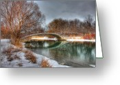 Bridge Prints Greeting Cards - Winter Tranquility Greeting Card by James Marvin Phelps