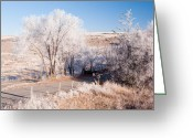 Sly Greeting Cards - Winters Frosty Dessert Greeting Card by Peter Olsen