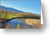 Saco River Greeting Cards - With a View  Greeting Card by Joe  Martin