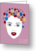Hair Drawing Greeting Cards - Woman in Fashion Greeting Card by Frank Tschakert
