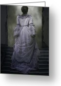 Gown Greeting Cards - Woman On Steps Greeting Card by Joana Kruse