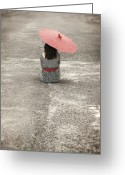 Street Greeting Cards - Woman On The Street Greeting Card by Joana Kruse