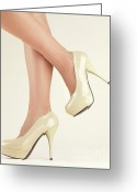 Sexiness Greeting Cards - Woman Wearing High Heel Shoes Greeting Card by Oleksiy Maksymenko