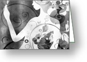 Amaze Greeting Cards - Wonder BW Greeting Card by Angelina Vick