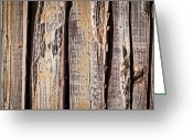 Rotted Greeting Cards - Wood background Greeting Card by Tom Gowanlock