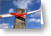 Stake Greeting Cards - Wooden post Greeting Card by Bernard Jaubert