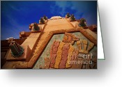 Pyramid Pyrography Greeting Cards - World Showcase - Mexico Pavillion Greeting Card by AK Photography
