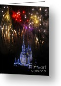 Night Time Greeting Cards - Wow Greeting Card by David Lee Thompson