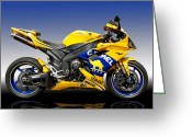 D700 Greeting Cards - Yamaha R1 Greeting Card by Carl Shellis