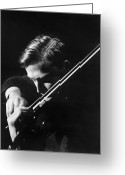 Violinist Greeting Cards - Yehudi Menuhin (1916-1999) Greeting Card by Granger