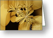 Illusion Illusions Greeting Cards - Yellow flowers Greeting Card by Kristin Kreet