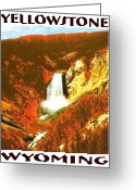 Photo-realism Digital Art Greeting Cards - YELLOWSTONE Wyoming Poster Greeting Card by Peter Art Prints Posters Gallery