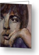 Beatles Painting Greeting Cards - Yesterday Greeting Card by Paul Lovering