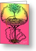 Norse Greeting Cards - Yggdrasil From Norse Mythology Greeting Card by Photo Researchers
