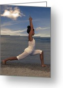 African American Female Greeting Cards - Yoga Greeting Card by Joana Kruse