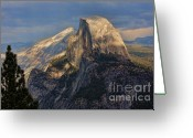Places Greeting Cards - Yosemite Half Dome Greeting Card by Chuck Kuhn