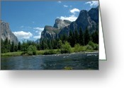Yosemite Creek Greeting Cards - Yosemite Valley View Greeting Card by LeeAnn McLaneGoetz McLaneGoetzStudioLLCcom