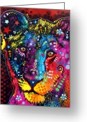 Lion Painting Greeting Cards - Young Lion Greeting Card by Dean Russo
