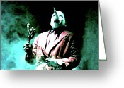 David Lynch Greeting Cards - Youve Been Gone Damn Near Two Years Greeting Card by Luis Ludzska