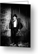 Disbelief Greeting Cards - Charlie Chaplin Greeting Card by Oleksiy Maksymenko