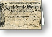 General Jackson Greeting Cards - Confederate Banknote Greeting Card by Granger