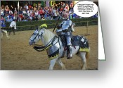 Jousting Greeting Cards - 10 Foot Pole Greeting Card by Brian Wallace