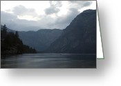 Lake Bohinj Greeting Cards - Lake Bohinj at dusk Greeting Card by Ian Middleton