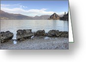 Morning Light Greeting Cards - Lake Maggiore Greeting Card by Joana Kruse