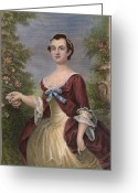 Martha Greeting Cards - Martha Washington Greeting Card by Granger