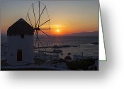 Village Greeting Cards - Mykonos Greeting Card by Joana Kruse