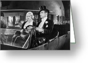 Tuxedo Greeting Cards - Silent Film: Automobiles Greeting Card by Granger