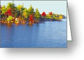 St Lawrence River Mixed Media Greeting Cards - 1000 Island Scenes 6 Greeting Card by Steve Ohlsen