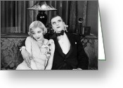 Bowtie Greeting Cards - Silent Film Still: Couples Greeting Card by Granger
