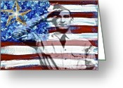 Veterans Day Greeting Cards - 11-11-11 Greeting Card by Gwyn Newcombe