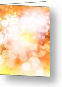 Shine Greeting Cards - Abstract background Greeting Card by Les Cunliffe