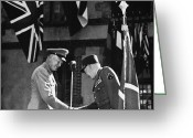Resignation Greeting Cards - Dwight D. Eisenhower Greeting Card by Granger