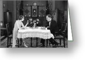 Tuxedo Greeting Cards - Film Still: Eating & Drinking Greeting Card by Granger
