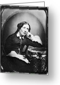 Daguerreotype Greeting Cards - Harriet Beecher Stowe Greeting Card by Granger