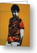 Tony Painting Greeting Cards - - Scarface - Greeting Card by Luis Ludzska