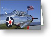 Army Air Corps Greeting Cards - A Bt-13 Valiant Trainer Aircraft Greeting Card by Stocktrek Images