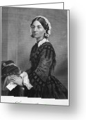 Autograph Photo Greeting Cards - Florence Nightingale Greeting Card by Granger