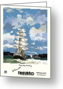 Jeanie Greeting Cards - Ireland  Tralee Bay Greeting Card by Joe O Donnell