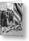 Flag Raising Greeting Cards - John Paul Jones (1747-1792) Greeting Card by Granger